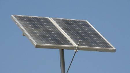 В Усть-Каменогорске устанавливают солнечные фонари