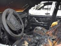 На трассе в Семее полностью сгорела LADA