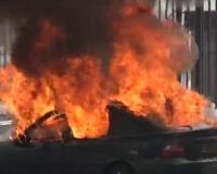 В Усть-Каменогорске продолжают гореть автомобили
