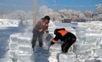 В Усть-Каменогорске строители ледового городка сделали четырёхлапого петуха