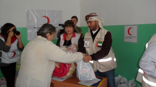 (+Фото) Гуманитарная помощь от Общества Красного Полумесяца